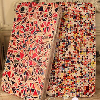 Mosaic geometric patterns painted iphone4/4S/5 Case [85]