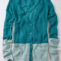 Anthropologie - Colorblock Pointelle Cardigan