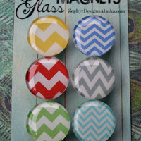 Glass Magnets - In Love With Chevron
