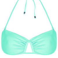 Aqua Bandeau Bikini Top - Swimwear  - Clothing