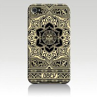 Obey Peace and Justice Ornament Hard Case Cover Skin for Iphone 4 4s Iphone4 At&t Sprint Verizon Retail Packing: Everything Else