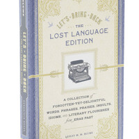 Lets Bring Back Lost Language Edition | Mod Retro Vintage Books | ModCloth.com