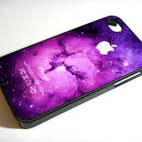 Purple Galaxy Nebula Space Foxfur  iPhone 4 / by CustomCazeShop