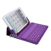 "FOM Ball Grain Wireless Bluetooth keyboard PU Leather Case with Stand for iPad mini 7.9"" 7.9 inch - Purple Ship from USA: Computers & Accessories"