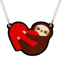 Handmade Gifts | Independent Design | Vintage Goods Sloth Love Necklace