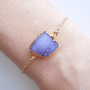 Drusy Bracelet in Periwinkle Blue, Purple : OOAK