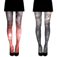 SPECIAL 2X Galaxy Tights Nebula Space Sheer Leggings, Gift