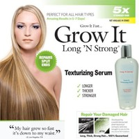Long N Strong 2-in1 ANTI-FRIZZ and HAIR GROWTH SERUM! Leave-in Texturizing Serum repairs hair while it helps it grow hair longer and stronger and relaxing frizzy hair