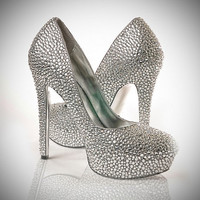 Swarovski Crystal Custom Made Pumps by twoFiftySeven on Etsy