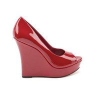 Flower Lipstick Red Patent Wedges - Color Blast - Trends - Jessica Simpson Official Site - Jessica Simpson Shoes, Boots, Dresses, Handbags, Apparel