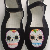 Day of the Dead Maryjane shoes by HelloShoes on Etsy
