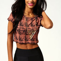 Phoebe Aztec Crop Top