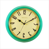Ashton Sutton Retro Wall Clock in Turquoise - TY9118216TQ | CSN Clocks