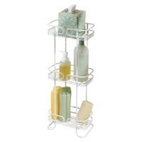 interDesign White Wire 3 Shelf Tower