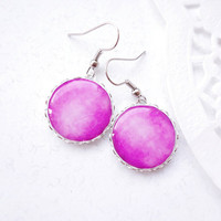 Neon pink lollipop earrings - Spring Collection