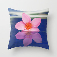 Plumeria Bloom  Throw Pillow by Bree Madden  | Society6