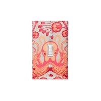 Coral Pink Octopus Light Switch Plate