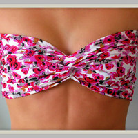 NEW - Floral Bandeau Top - Spandex Bandeau - Bandeau