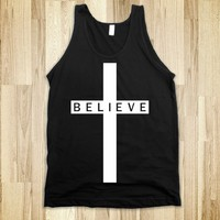Believe Cross (Tank - White Artwork) - Diamond Images