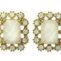 Stud Earrings with shiny Stones and a perfectly faceted white gem.