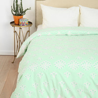 Scalloped Eyelet Duvet Cover