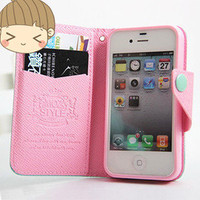 Bestgoods — [grlhx110059]Cute Mint & Pink Iphone 4/4s/5 case
