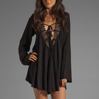 For Love &amp; Lemons Dreamer Dress in Black from REVOLVEclothing.com