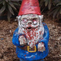 "Zombie Garden Gnome, ""Walking Dead"" Cast Concrete"