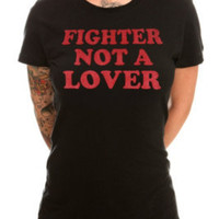 Fighter Not A Lover Girls T-Shirt