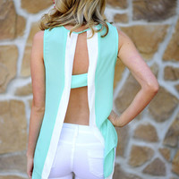 Take A Peek Tank: Aqua/White | Hope&#x27;s