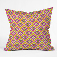 DENY Designs Home Accessories | Bianca Green Aztec Fiber 3 Throw Pillow