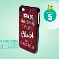 Bible Verses Philippians 4 13 5 - iPhone 5 black case