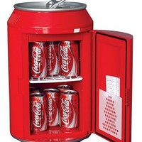 Koolatron CC10G Coca-Cola Can-Shaped 8-Can-Capacity Fridge, Red