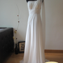 Athena Grecian Style White Chiffon Wedding Dress by AllureBridal