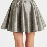 Glimmer Skirt in Gold By Ladakh - $79.00 : ThreadSence, Women's Indie & Bohemian Clothing, Dresses, & Accessories