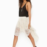 Lace Tail Skirt - Cream in  Clothes at Nasty Gal