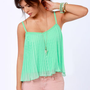 Roxy Want to Stay Mint Green Tank Top