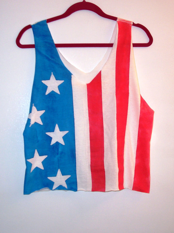American Flag Tank Top by BohoJane on Etsy