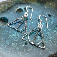 Deathly Hallows Earrings Gearrings by amechanicalmind