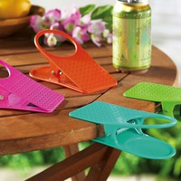 4 Colorful Clip On Table Cup Holders by Winston Brands