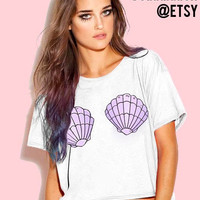 Mermaid cropped tee