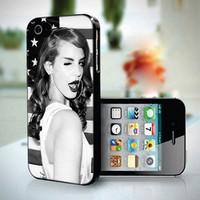 LANA DEL REY Black and White design for iPhone 5 case