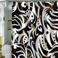 Gina Rivas Design Tribal Splatter Shower Curtain