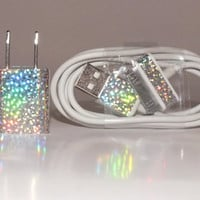 Holographic Prism  iPhone charger by BradleyNYCreations on Etsy