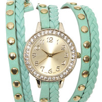 Braided Rhinestone Wrap Watch | Shop Trending Now at Wet Seal