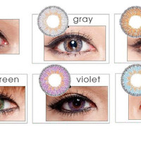 NEO Vision Glamour Grey circle lens - colored contact lenses | EyeCandy's