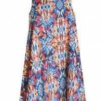 LOVE Geometric Print Tie Back Dress  - Love