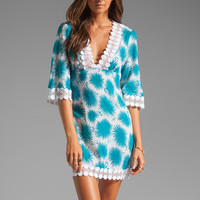 Milly Aster Print Polynesian Dress in Aqua from REVOLVEclothing.com