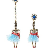 SAILOR SKELETON MISMATCH EARRINGS - Betsey Johnson