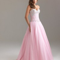 Sweetheart Pink prom dress with crystal(pds2349)